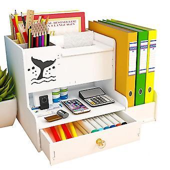 Office Desk Organizer, Plastic Pen Holder Desktop Storage Box For Student(Size 1)