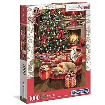 كليمنتوني عيد الميلاد من قبل النار بانوراما اللغز (1000 قطعة)