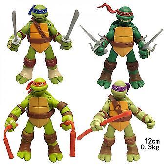 4pcs/set Teenage Mutant Ninja Turtles Action Figure Film Edition Movab
