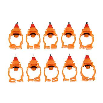 Chicken Rabbit Feeder Automatic Poultry Spring Water Nipples For Chicken Duck Hen Drinker Farm Animal Water Feeder, 10pcs/lot