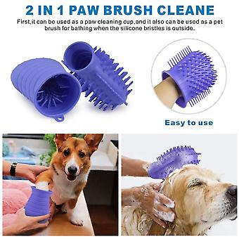 Pet Supplies Dog Paw Cleaner, All Silicone, Massage On Both Sides (b)