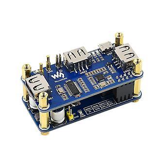 Motherboards waveshare poe ethernet / usb hub hat for raspberry pi zero/ zero w / zero wh  3x usb 2.0 Ports