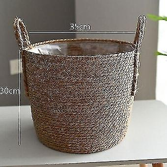 Baskets handwoven rattan storage basket for household and decor a