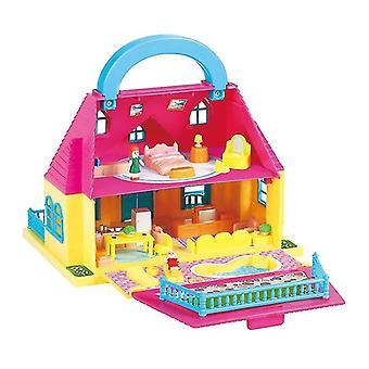 Verbindung Klapppuppenhaus Villa Kunststoff DIY Puppenhäuser Spielen Haus Möbel montiert Puppenhaus