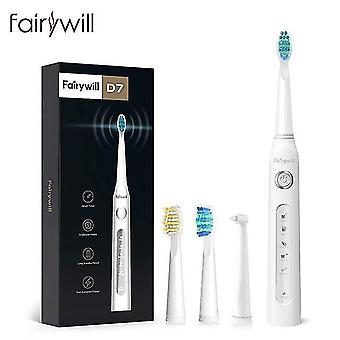 Fairywill sähköinen ääni hammasharja fw-507 USB lataus vedenpitävä ladattava elektroninen hammas 8
