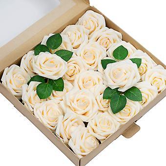 50 Rose in scatola Simulazione Rose Confezione regalo Matrimonio Regalo di San Valentino della mamma, Champagne