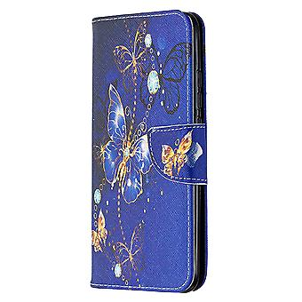 Couverture pour Xiaomi Redmi 9a Pattern Purple Butterfly