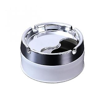 Caraele Ménage Détachable Couvercle Rotatif 360 Degrés Rotation Libre Acier Inoxydable Résistance à la Corrosion Portable Cigarette Cendrier