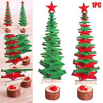 Diy Non-woven Mini Christmas Tree Party Desktop Decoration Home Ornament Fabric