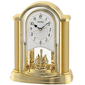 Seiko analoginen Mantel pyörivät heiluri kellon muovi - kultaa (QXN228G)