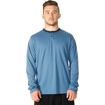 RVCA VA Sport Plata Long Sleeve Henley - Desert Blue