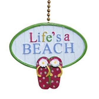 Elämältä hauskoja sandaalit, rannikon teema kattotuuletin vetää
