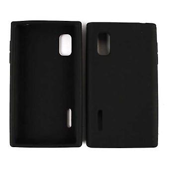 Unlimited Cellular Deluxe Silicone Skin Case pour LG L40G / Optimus Extreme (Noir)
