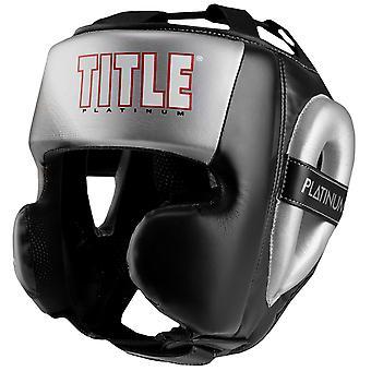 Titel boxning Platinum förkunna Power träning huvudbonader - svart/Silver