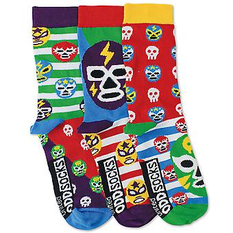 United Oddsocks Set Of 3 Mask Socks For Boys