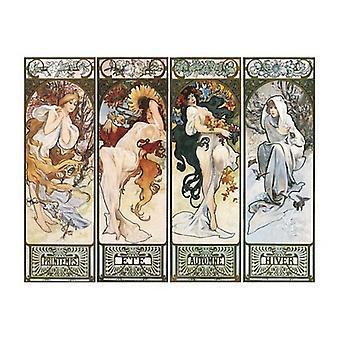 Les Saisons Poster Print von Alphonse Mucha (20 x 16)