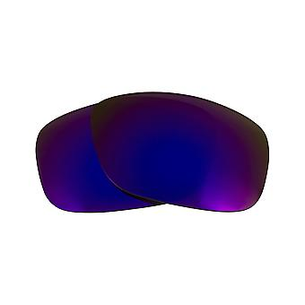 Vervangende lenzen voor Oakley ten X zonnebrillen Purple mirror anti-kras antischittering UV400 door SeekOptics
