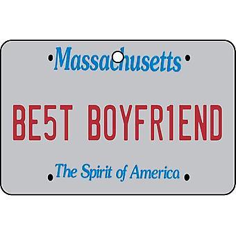 Massachusetts - Best Boyfriend License Plate Car Air Freshener