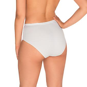 Sans Complexe 1537-Blanc Women's perfecte Lift wit licht controle inwikkeling Shaping hoge taille kort