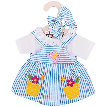 Bigjigs Toys Blue Striped Rag Doll Dress (34cm) Doll Clothing Outfit