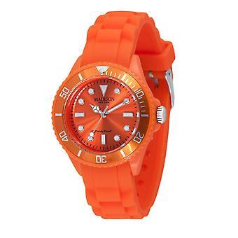 Candy tijd door Madison N.Y.. horloge mini L4167-04 oranje