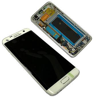 Дисплей LCD полный набор белый для Samsung Галактика S7 края G935 G935F GH97 18533D