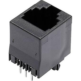 Modulaire gemonteerde socket Socket, verticale verticale aantal pins: 6 MJTN66A zwart econ sluit MJTN66A 1 PC('s)