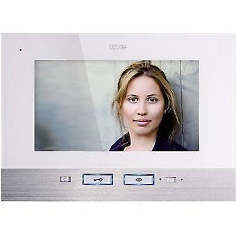 m-e modern-electronics Vistadoor VDV 507 WW Video door intercom Corded Indoor panel Detached White, Stainless steel