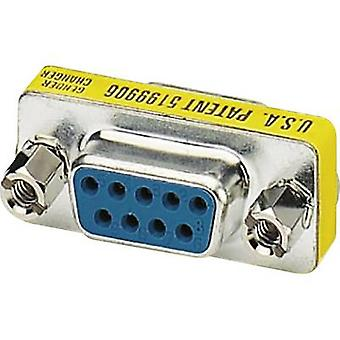 Phoenix contact serie, parallelle adapter [1x D-SUB socket 9-pins-1x D-SUB socket 9-pins] 0 m geel