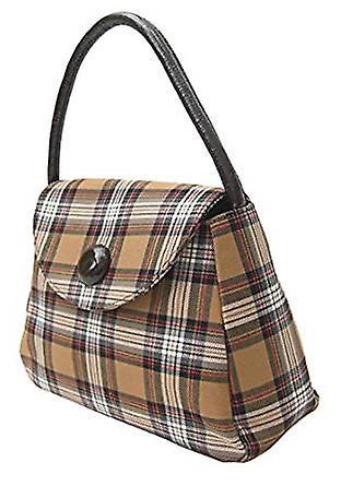 Tartan S Handbag (Stewart Camel)