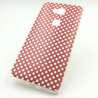 Handy Hülle für Huawei Honor 5X Polka Dot Rot Tasche Cover + 1x Panzer Schutz Glas Neu
