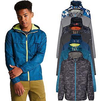 Ousam 2b rapazes testemunhar impermeável respirável casaco com capuz