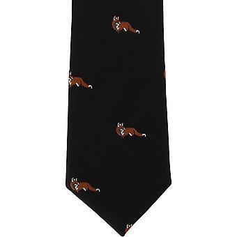 Michelsons de Londres Fox soie cravate - noir