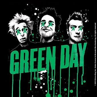 Green Day Coaster Drips band logo new Official 9.5cm x 9.5cm single cork