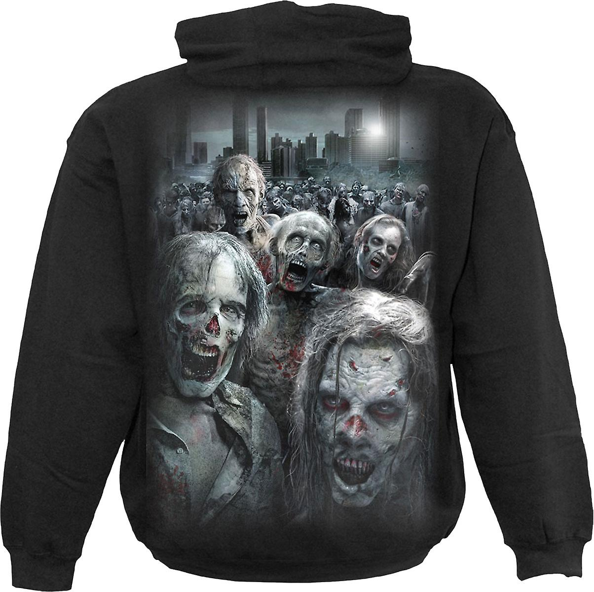 Spiral Direct Gothic ZOMBIE HORDE - Hoody Black The Walking Dead Zombie Blood Horror