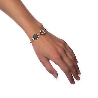Armband zwart marmer-kleine cirkel
