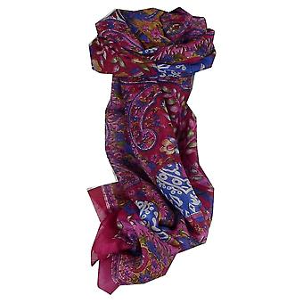 Maulbeere traditionellen langen Seidenschal Nam Pink von Pashmina & Seide