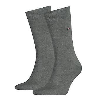 Tommy Hilfiger 2 Pack Classic Sock - Middle Grey Melange