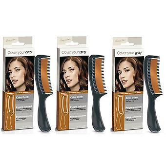 Cover Your Gray Color Comb Medium Brown (3-Pack)