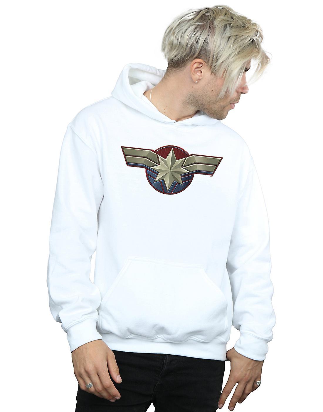 Marvel Men's Captain Marvel Chest Emblem Hoodie