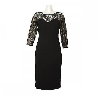 Michaela Louisa Classic Dress With Lace Panel Detail