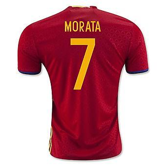 2016-2017 Spania hjem skjorte (Morata 7) - barn