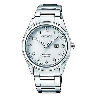 Citizen watch ladies Solar Classic Analog Bracelet Watch with Titanium EW2470-87A