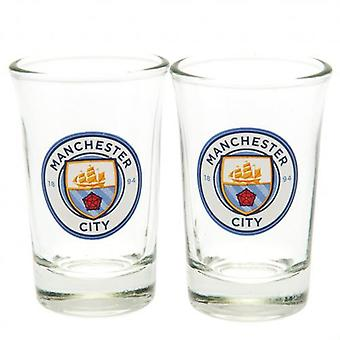 Manchester City 2pk Shot Glass Set