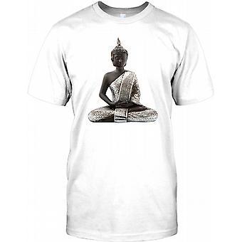 Buddha Stone Statue Meditating - Ayuttaya Kids T Shirt