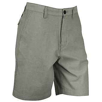 Quiksilver Mens Oxford cotidiana Shorts - escuro sombra cinza