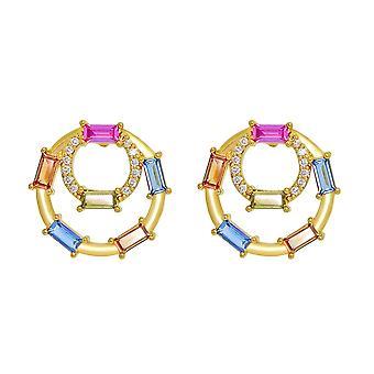 Ah! Jewellery Sapphire Multi Crystals from Swarovski Cocktail Earrings