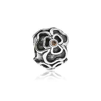 Pandora posy silver & brun CZ charm 790413BCZ