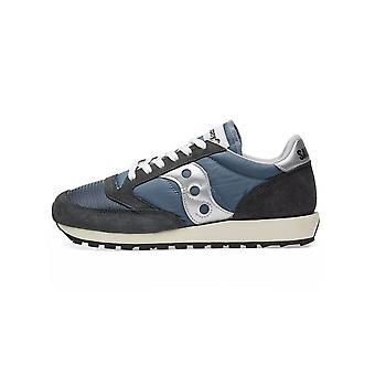 Saucony Navy & Silver Jazz Original Vintage Sneaker