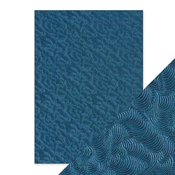 Craft Perfect by Tonic Studios Hand Crafted Cotton Papers Deep Sea Dive | Pack of 5